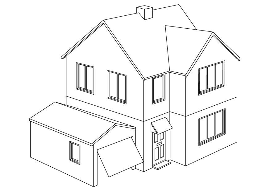 Dibujos De Casas Modernas Para Colorear Imagesacolorierwebsite