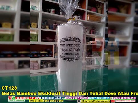 Gelas Bamboo Eksklusif Tinggi dan Tebal Dove atau Froz grosir