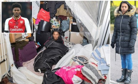 Homeless mother of Arsenal star who lives in a £700,000 apartment and earns £30,000-a-week cries out (Photos)