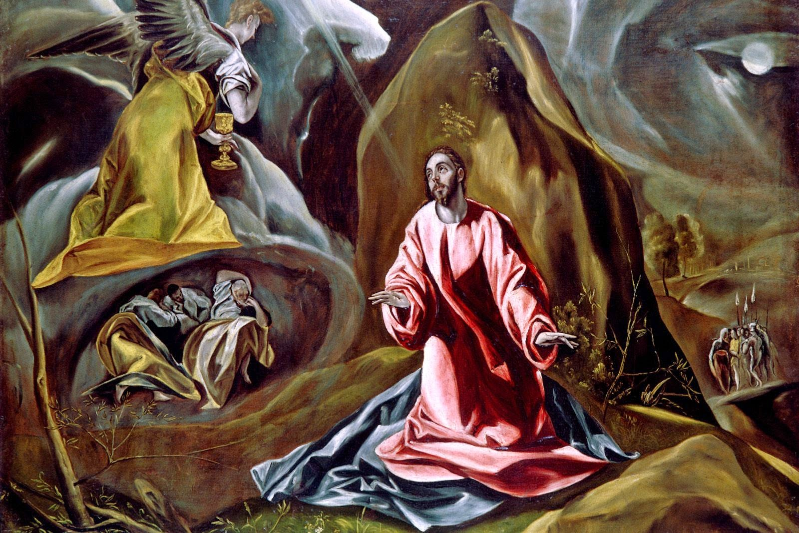 art now and then art and jesus gethsemane