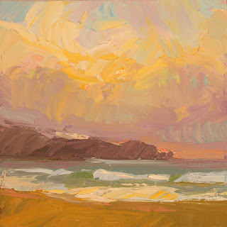 "Carole Gray-Weihman, ""Last Light on the Beach"""