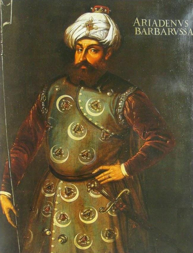 Μπαρμπαρόσα. Ο Έλληνας που έγινε μουσουλμάνος πειρατής. Οργάνωσε τον στόλο του Σουλεϊμάν και έγινε ο μακελάρης του Αιγαίου