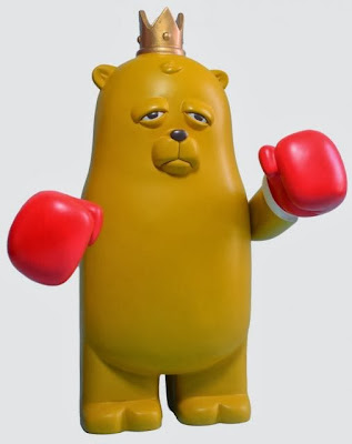 Original Edition Bear Champ Resin Figure by JC Rivera