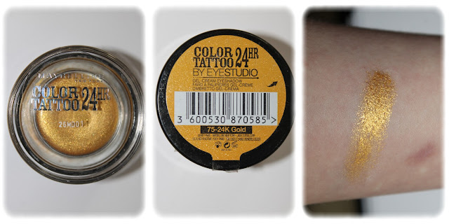 Swatch Ombre à Paupières Color Tattoo 24hr Teinte 75-24k Gold - Maybellline