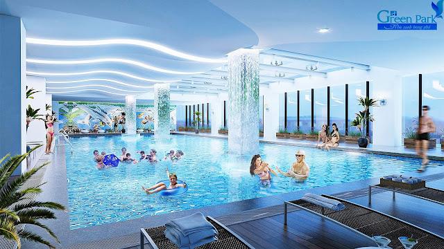 tiện ích bể bơi tại chung cư Green Park