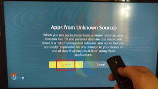 "STEP 5 : Press ""Turn On"" to Enable Apps from Unknown Sources"