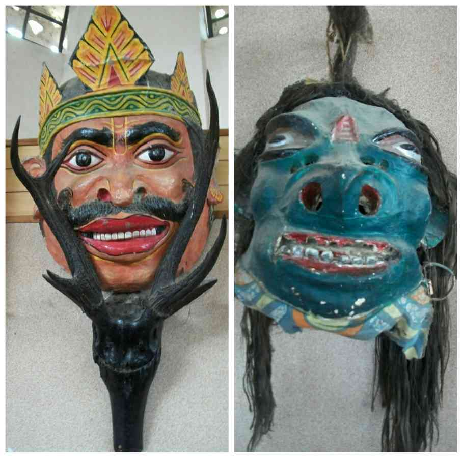 Masks are on display in the museum of Auniati Satra.