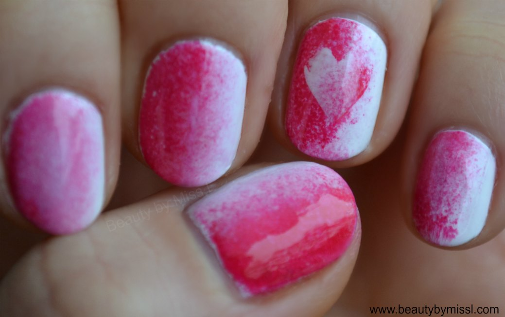 Valentine´s Day manicure for nubbins + tutorial