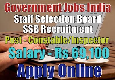 Staff Selection Board SSB Recruitment 2017