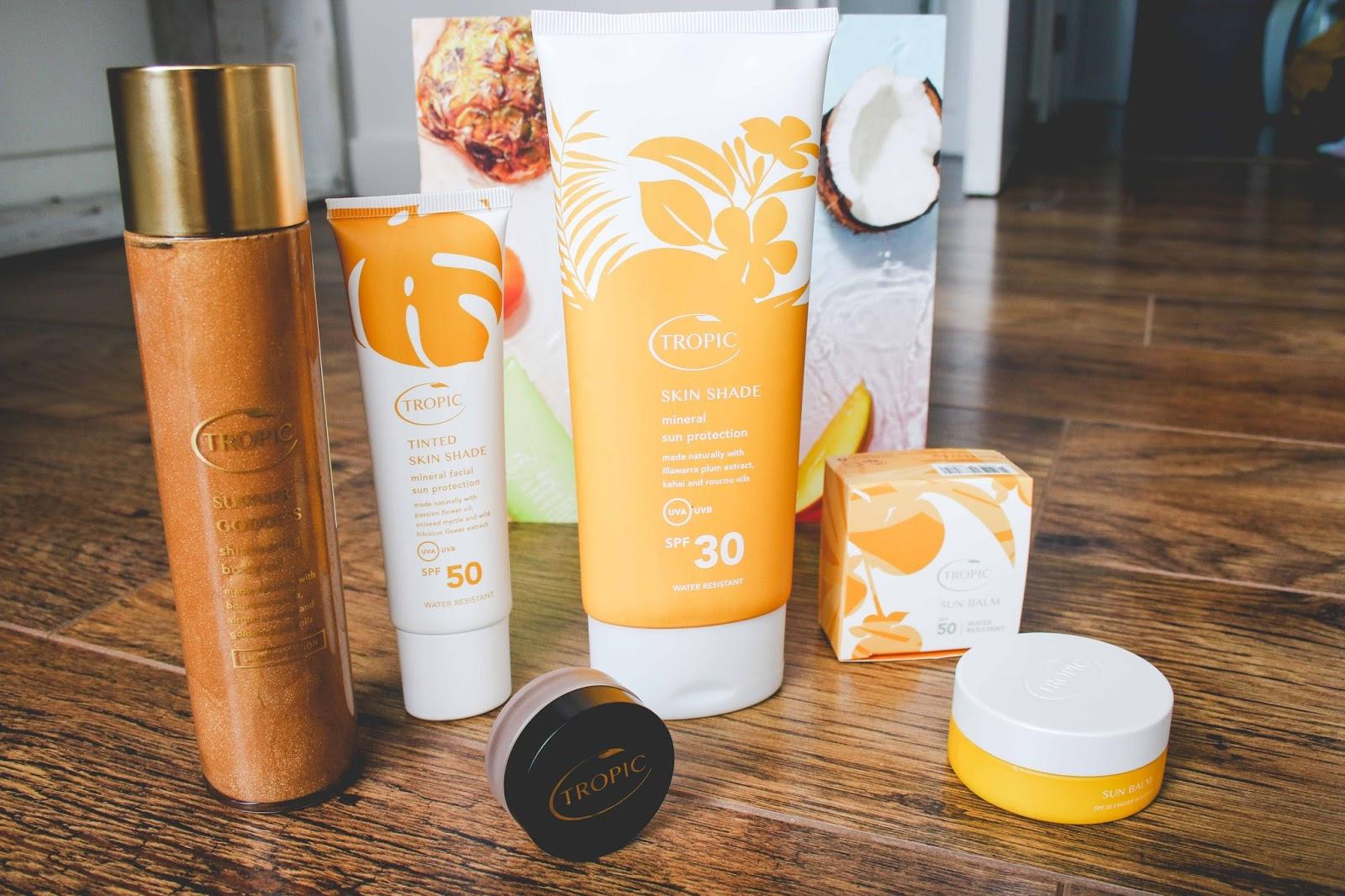 Tropic skincare sunscreen range