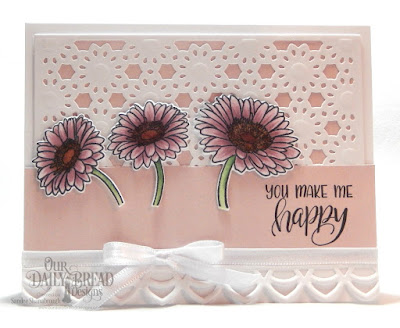 Our Daily Bread Designs Stamp/Die Duos: Call to Me, Paper Collection: Romantic Roses, Custom Dies: Daisy Chain Background, Deco Border