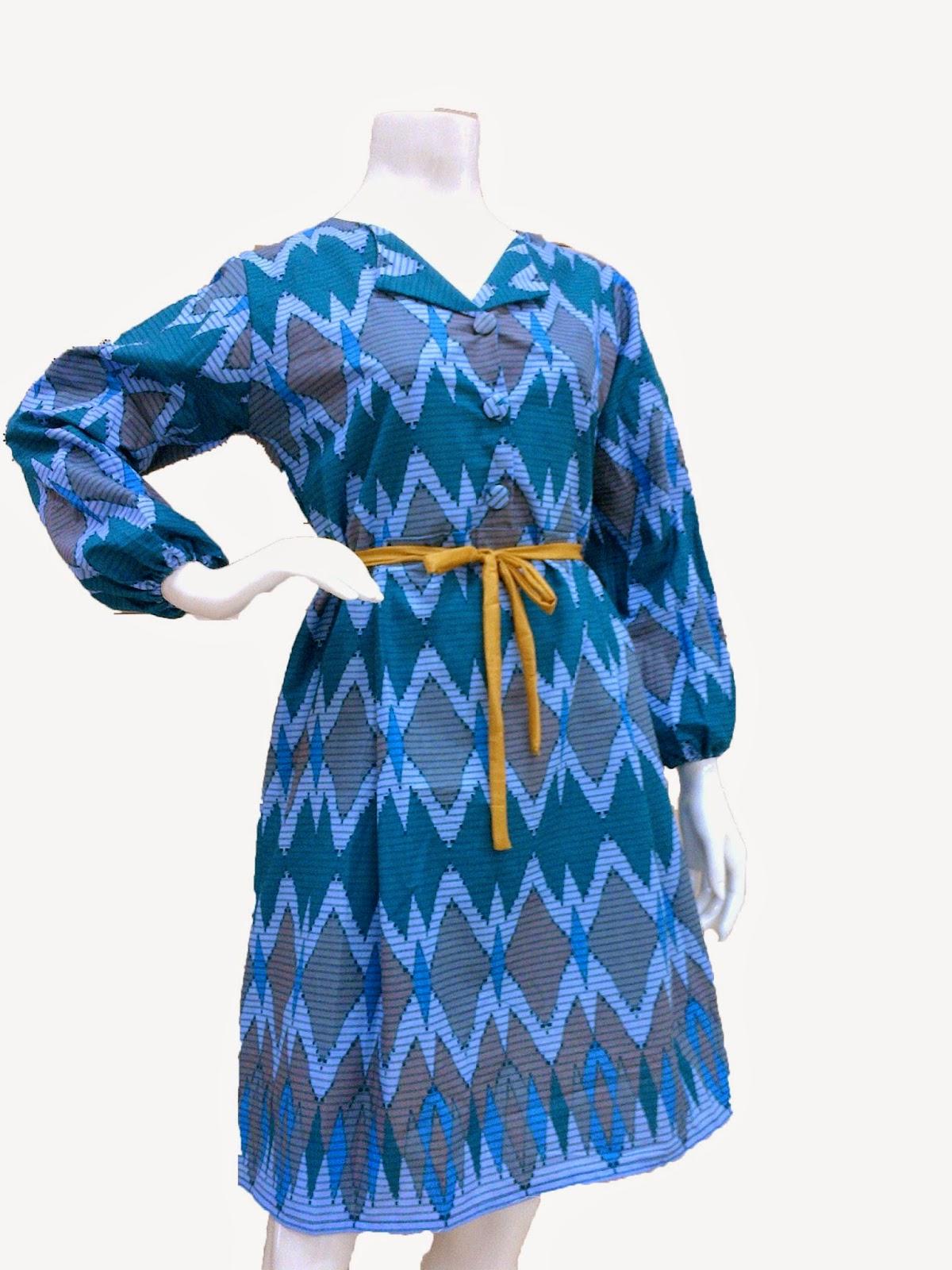 Batik Bagoes Solo Dress Batik Modern motif RangRang
