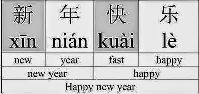 Xin Nian Kuai Le in Chinese