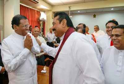 Former President Mahinda Rajapaksa has accused President Maithripala Sirisena of failing to protect the Sri Lanka Freedom Party (SLFP).