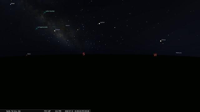 כל כוכבי הלכת מעל האופק 12/7/2018 21:09