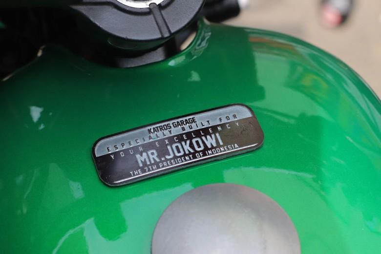 Penampakan Motor modifikasi, milik Presiden Joko Widodo