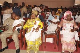 2e - Bayelsa Governor, Seriake Dickson and wife, Rachael dedicate their quadruplets in Church (photos)