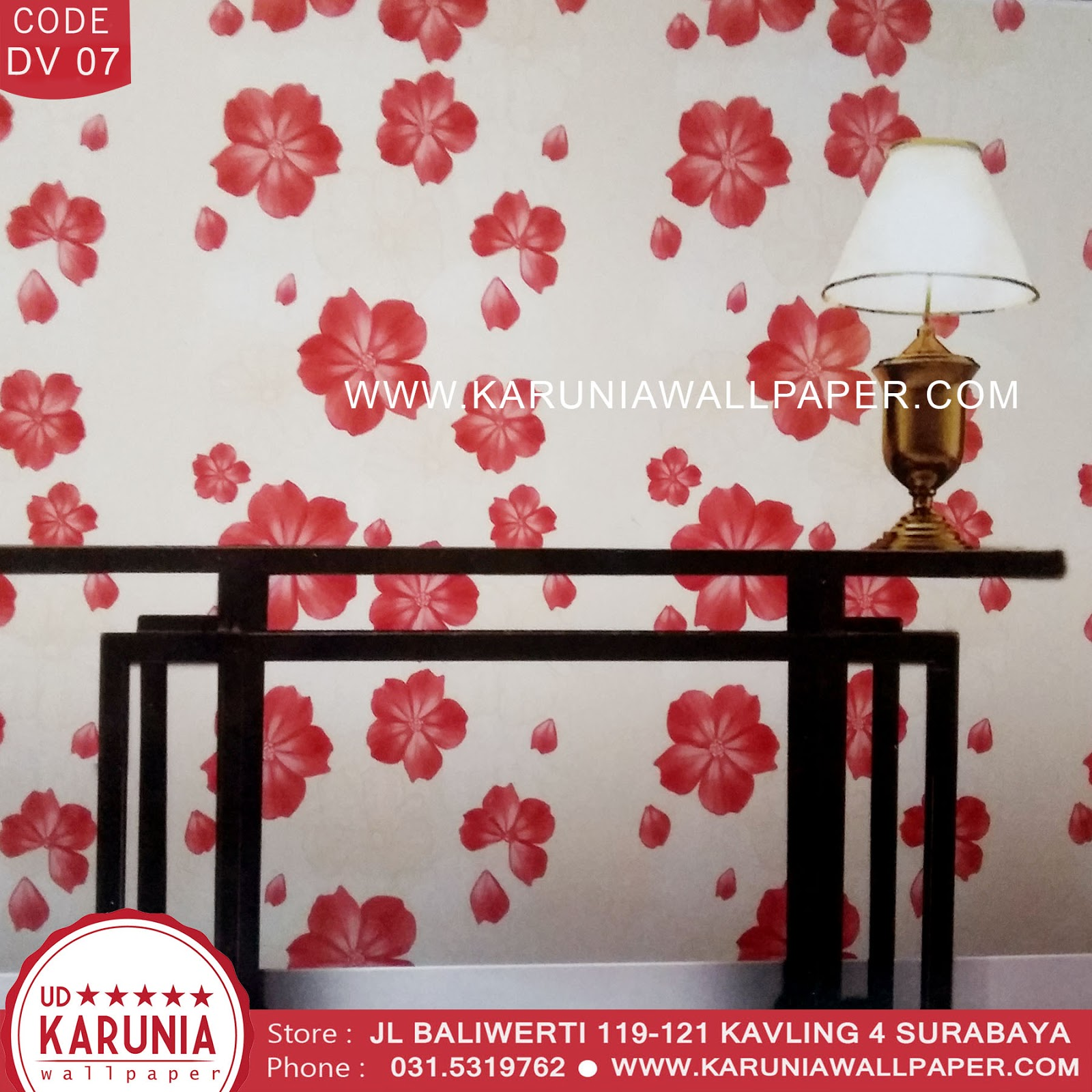 jual wallpaper bunga