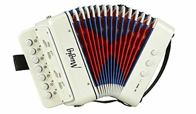 Mugig Musical Accordion for Kids - Solo Instrument with Ten Keys for Early Childhood Development