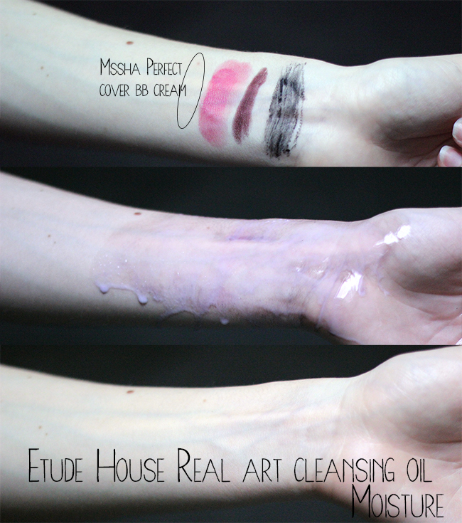etude house real art cleansing oil moisture review