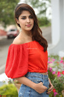 Rhea Chakraborty in Red Crop Top and Denim Shorts Spicy Pics ~  Exclusive 130.JPG
