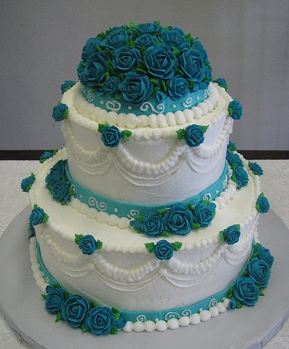 turquoise and white wedding cake with diamonds becki s small cakes served with slices of 21301