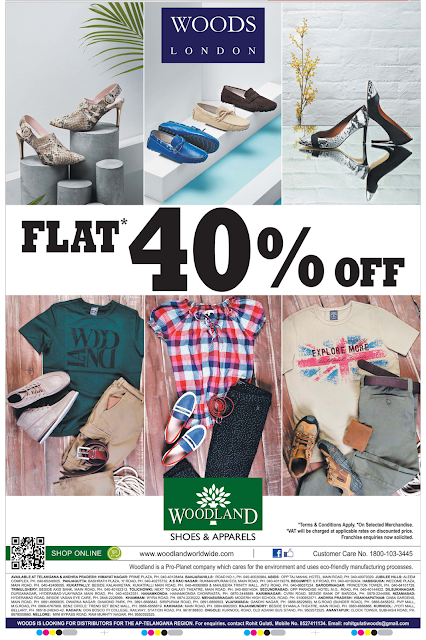 Flat 40% off in Woodland | June 2016 discount offer
