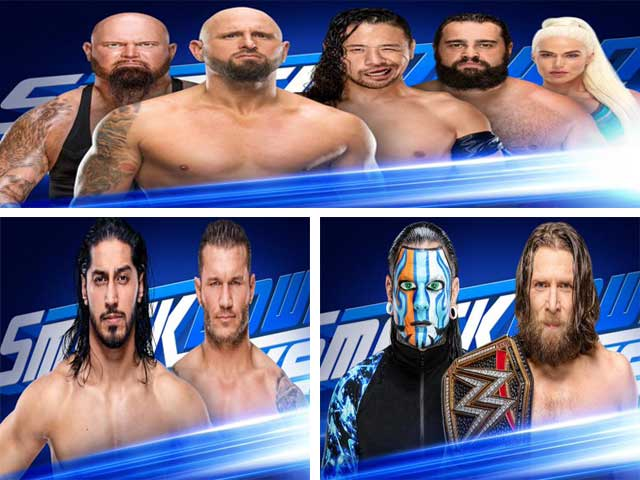 Three big matches were announced for WWE SmackDown live