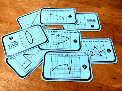 free domain and range practice cards