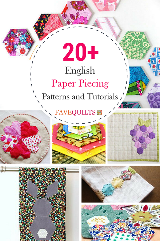 20+ English Paper Piecing Patterns and Tutorials