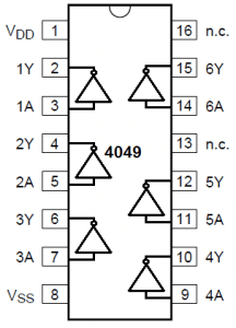 IC 4049 pinouts