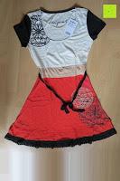 Erfahrungsbericht: Desigual Damen A-Linie Kleid, VEST_ALTAÍR Knielang mit Print