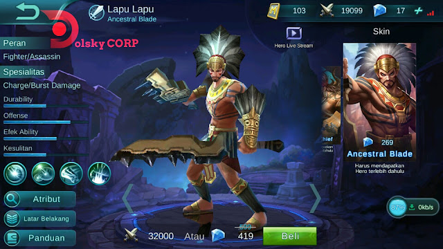 Hero Lapu-lapu ( Ancestral Blade ) Tank + Attack Build Set up Gear