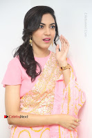 Actress Ritu Varma Pos in Beautiful Pink Anarkali Dress at at Keshava Movie Interview .COM 0347.JPG
