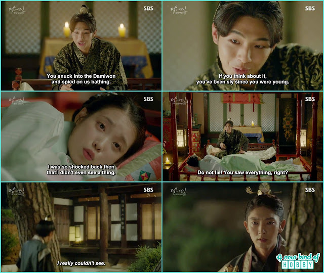 while wang jung and hae soo talking and laughing intheir room King Wang Soo was outside the house watching their room in anger  - Moon Lovers Scarlet Heart Ryeo - Episode 20 Finale (Eng Sub)