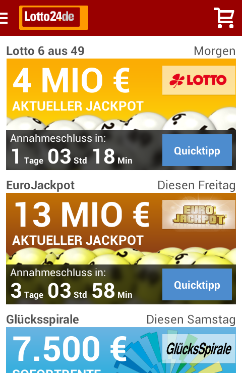 Screenshot Lotto24-App
