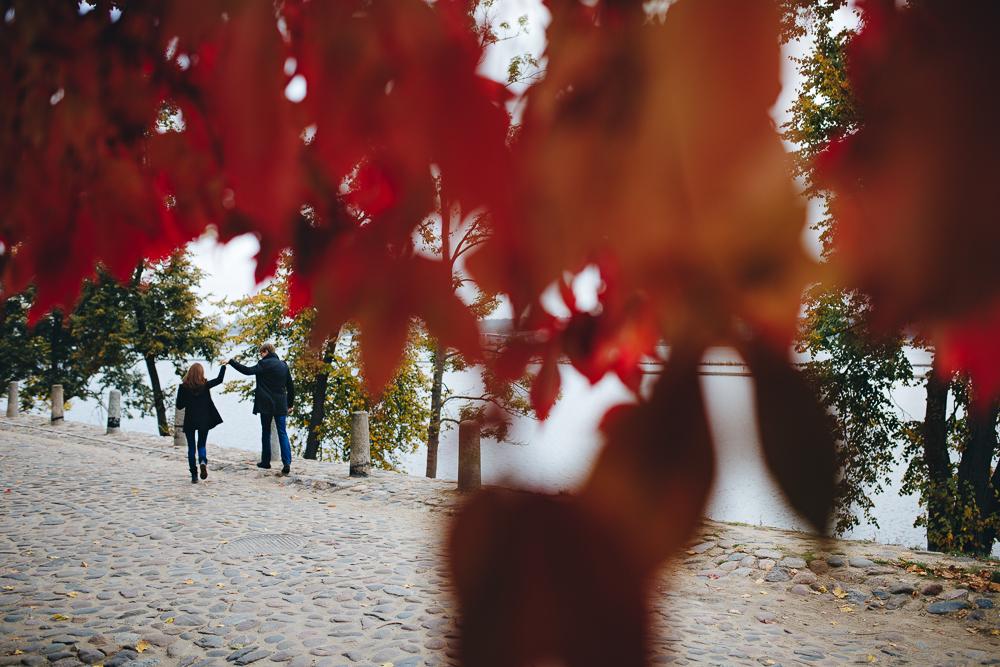 sarkanas lapas rudenī