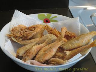 Fritti, pesci, farina di riso, senza glutine