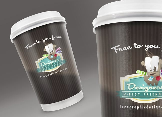 Free Coffee Cup PSD Mock Up