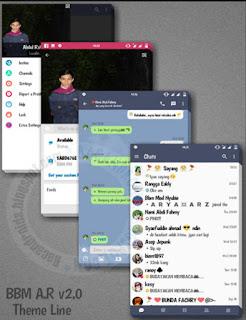 BBM Mod A.R Line Theme v2.0 Base Versi 3.0.1.25 Apk Terbaru For Android