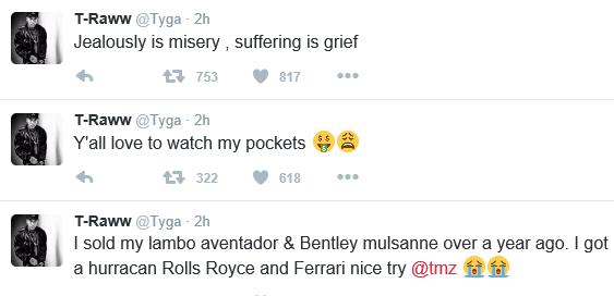 Xclusivepluz Tyga Reacts To Rumour That His Lamborghini