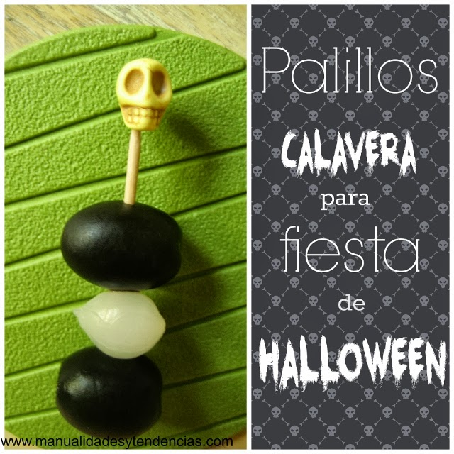 Palillo calavera para Halloween / Skull Halloween toothpick/ Cure-dent tête de mort pour Halloween