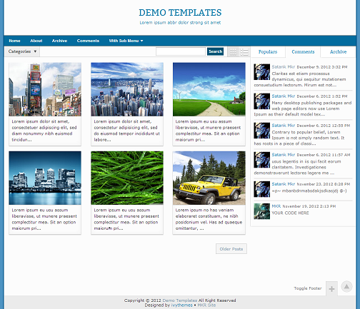 Gremble Blue Blogger Template