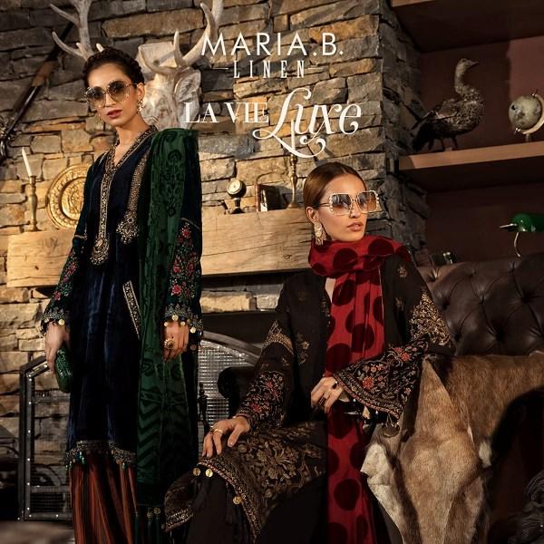 Fall Winter 2020 Supreme.Maria B La Vie Luxe Linen 2019 Maria B Autumn Winter Linen
