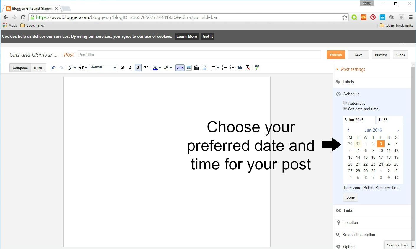 how to schedule blog posts