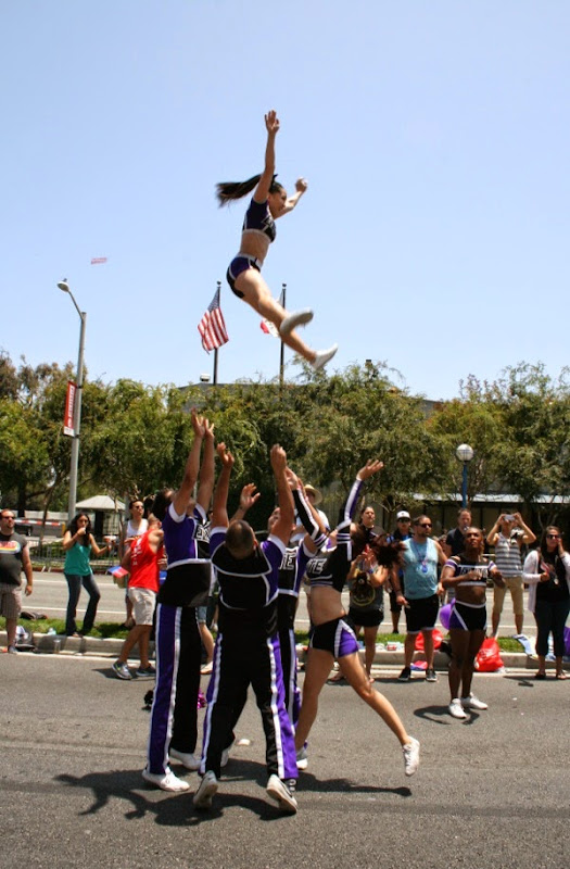 Cheerleaders West Hollywood Pride Parade 2014