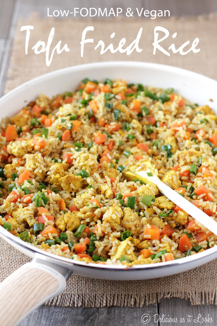 Low-FODMAP & Vegan Tofu Fried Rice  /  Delicious as it Looks