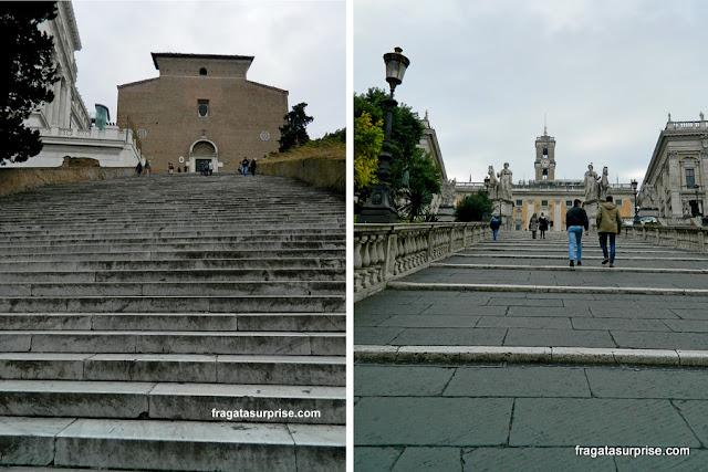 Escadaria de Aracoeli e Cordonata, Roma