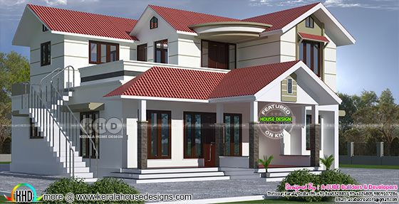 2184 square feet 4 bedroom Kerala home design