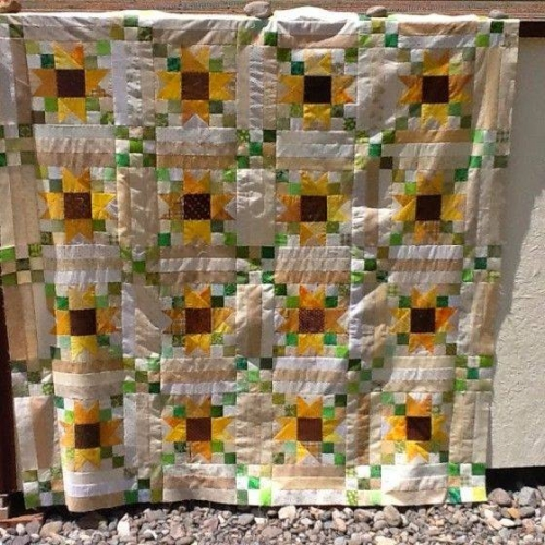 Scrappy Sunflower Quilt - Tutorial